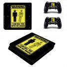 Danger Icon decal skin sticker for PS4 Slim console and controllers