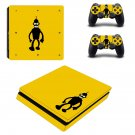 Futurama bender decal skin sticker for PS4 Slim console and controllers