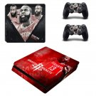 Houston Rockets decal skin sticker for PS4 Slim console and controllers