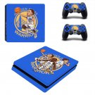 Golden State Warriors decal skin sticker for PS4 Slim console and controllers