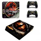The Lost World jurassic park decal skin sticker for PS4 Slim console and controllers