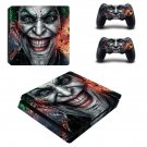 Joker decal skin sticker for PS4 Slim console and controllers