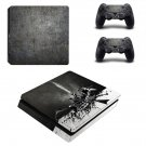 Metal Wallpaper decal skin sticker for PS4 Slim console and controllers