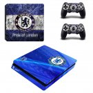 Chelsea FC decal skin sticker for PS4 Slim console and controllers
