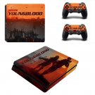Wolfenstein youngblood decal skin sticker for PS4 Slim console and controllers