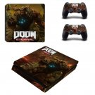 Doom Eternal decal skin sticker for PS4 Slim console and controllers