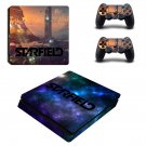 Starfield decal skin sticker for PS4 Slim console and controllers