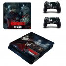 Resident Evil 2 remake decal skin sticker for PS4 Slim console and controllers