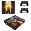 Sekiro Shadows Die Twice decal skin sticker for PS4 Slim console and controllers