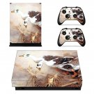 Swan Wallpaper decal skin sticker for Xbox One X console and controllers