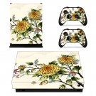 Flower Wallpaper decal skin sticker for Xbox One X console and controllers