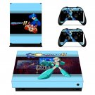 Mega Man 11 decal skin sticker for Xbox One X console and controllers