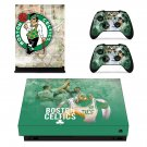 Boston Celtics decal skin sticker for Xbox One X console and controllers