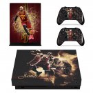 Cleveland Cavaliers decal skin sticker for Xbox One X console and controllers