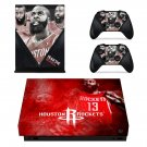 Houston Rockets decal skin sticker for Xbox One X console and controllers