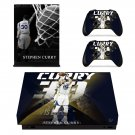 Stephen Curry decal skin sticker for Xbox One X console and controllers