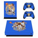 Golden State Warriors decal skin sticker for Xbox One X console and controllers