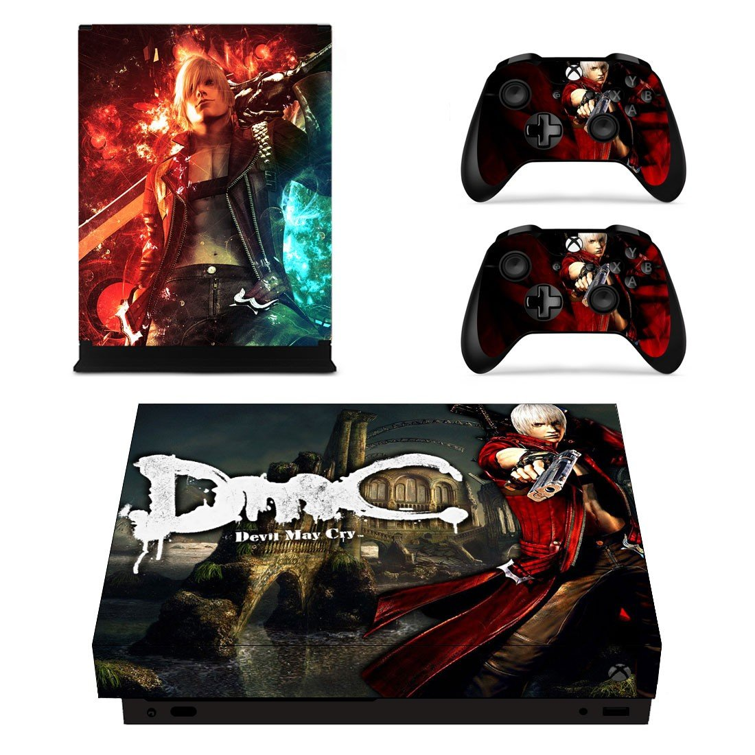 Devil May Cry decal skin sticker for Xbox One X console and controllers