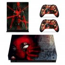 Deadpool decal skin sticker for Xbox One X console and controllers