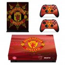 Manchester United decal skin sticker for Xbox One X console and controllers