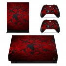 Dark Wallpaper decal skin sticker for Xbox One X console and controllers