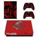 Gears of War decal skin sticker for Xbox One X console and controllers