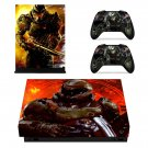 Doom 4 decal skin sticker for Xbox One X console and controllers