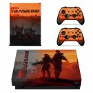 Wolfenstein youngblood decal skin sticker for Xbox One X console and controllers