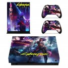 Cyberpunk 2077 decal skin sticker for Xbox One X console and controllers