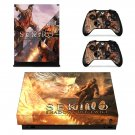 Sekiro Shadows Die Twice decal skin sticker for Xbox One X console and controllers