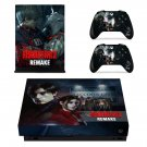 Resident Evil 2 remake decal skin sticker for Xbox One X console and controllers