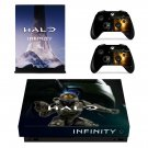Halo Infinity decal skin sticker for Xbox One X console and controllers
