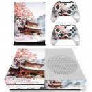 Chinese house decal skin sticker for Xbox One S console and controllers