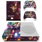 Iron Man tony stark decal skin sticker for Xbox One S console and controllers