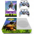 Fortnite royal battle decal skin sticker for Xbox One S console and controllers