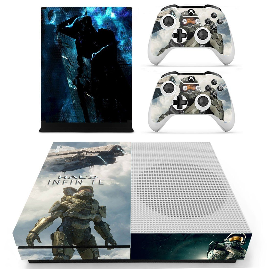 Halo Infinite decal skin sticker for Xbox One S console and controllers