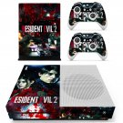 Resident Evil 2 decal skin sticker for Xbox One S console and controllers