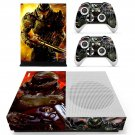 Doom 4 decal skin sticker for Xbox One S console and controllers