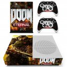 Doom Eternal decal skin sticker for Xbox One S console and controllers
