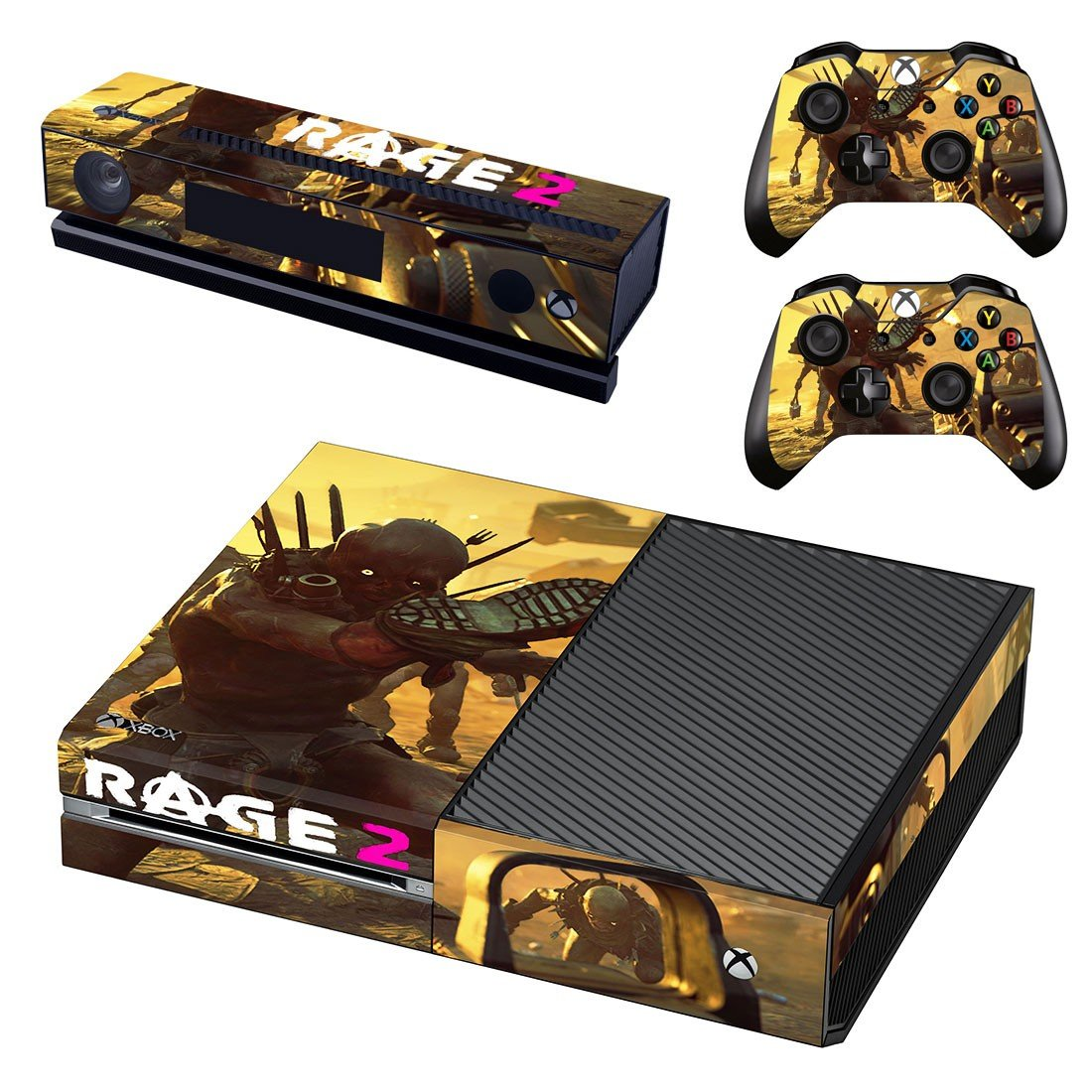 Rage 2 decal skin sticker for Xbox One console and controllers