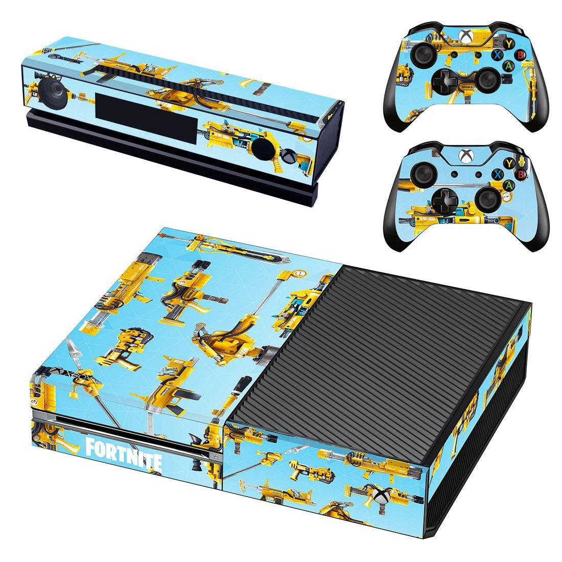 Fortnite Guns decal skin sticker for Xbox One console and controllers