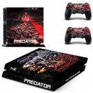 The Predator decal skin sticker for PS4 console and controllers