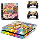 One Piece decal skin sticker for PS4 console and controllers