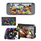 Super Smash Bros decal skin sticker for Nintendo Switch console and controllers