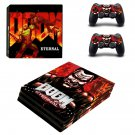 Doom Eternal decal skin sticker for PS4 Pro console and controllers