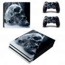 Smoky skull decal skin sticker for PS4 Pro console and controllers