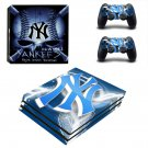 New york yankees decal skin sticker for PS4 Pro console and controllers