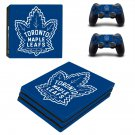 Toronto Maple Leafs decal skin sticker for PS4 Pro console and controllers