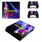Cyberpunk 2077 decal skin sticker for PS4 Slim console and controllers