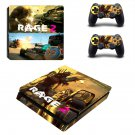 Rage 2 decal skin sticker for PS4 Slim console and controllers
